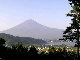 朝一富士山です