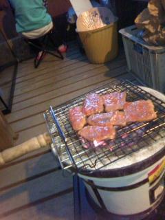 今年最初のテラス焼肉♪