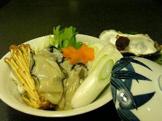 牡蠣の土手蒸し?